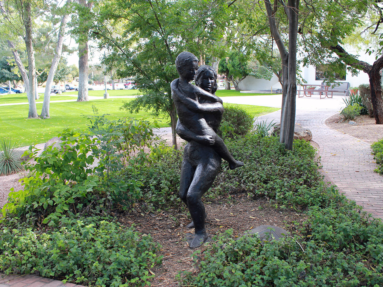 john waddell mother and child sculpture