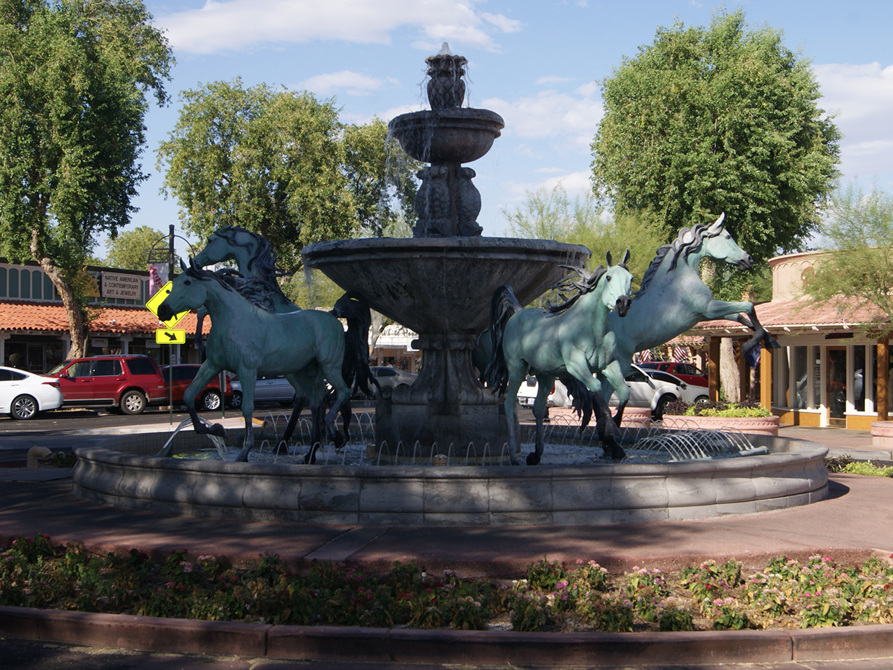 bronze horse fountain
